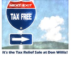 Taxes, taxes and more taxes!! Ready for some Tax Relief? It's the Tax Relief Sale at Don Willis Furniture. On everything- including sale prices and special orders too! ON NOW! #donwillisfurniture #madeinthenorthwest #shoplocal #onsale #homedecor #realwood