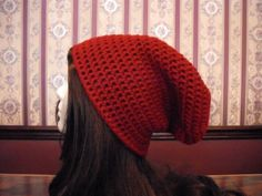 Teen Adult Size Red Slouch Hat Slouchy by MarlowsGiftCottage, $20.00