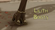 The Sims 4 Lilith Boots by Sims Four, Sims 4 Mm Cc, Maxis, Sims 4 Anime, Sims 4 Cc Shoes, Casas The Sims 4, Sims Building, Sims 4 Dresses, Sims 4 Characters