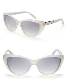 3be0b2e8be Marc By Marc Jacobs Cateye Sunglasses in White (opal)