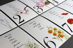 Hermanas Bolena · menús, meseros y seating plan flores #boda #papeleria #weddings #stationery #flowers #spain