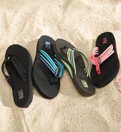 Most comfortable pair of flip flops I've ever worn!!!!   I have them in blue.