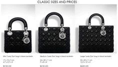 Lady Dior size chart  ee3c0e03a0b76