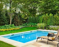 I'd rather have this..... greenery all around being the main focus rather than a bigger pool