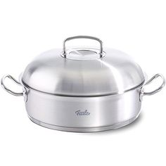 Fissler FISS08437328001 Round Roaster with Domed Lid 12 Silver * Read more reviews of the product by visiting the link on the image.