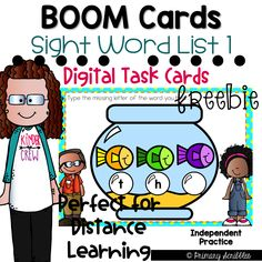 This deck contains 20 cards relating to the topic of Sight Words. This is the first List in a series of other lists that can be found in my Boom or TPT store. This deck focuses on five sight words (the, a, to, and, I). Within this deck, students will match sight words with sound, find missing letters in sight words, spell the word, and type the word). Enjoy this FREEBIE. Perfect for 1:1 technology! Guided Reading Activities, Sight Word Activities, Back To School Activities, Teaching Reading, Teaching Math, Fun Activities, Teaching Resources, Teaching Sight Words, Sight Words List
