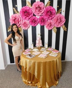 19 Trendy Birthday Decorations For Mom Backdrops Birthday Surprise For Mom, 50th Birthday Party, Birthday Party Decorations, Girl Birthday, Birthday Ideas, 21st Party, Paper Flower Backdrop, Paper Flowers, Pink Flowers