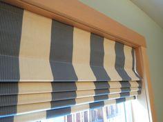 Flat Linen Roman Shades