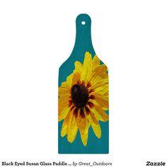 Black Eyed Susan Glass Paddle Cutting Board