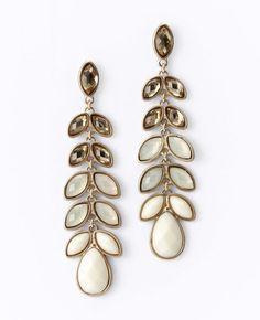 Ombre Leaf Chandelier Earrings