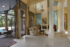 514 Harbor Court, Delray Beach: Tuscan Elegance: Mediterranean Villa Estate one block from the ocean in Delray Beach has a dream location. Enjoy amazing views and wonderful privacy as you enter the courtyard with four car garage. This six bedroom estate has loggias and balconies leading to a resort-style pool with spa. Interior features include a library, billiard room, butler's kitchen, and gourmet kitchen. See the listing: http://www.corcoran.com/florida/listings/display/2966269