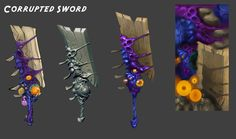Wildstar- Corrupted Sword, Max Gon on ArtStation at https://www.artstation.com/artwork/wildstar-corrupted-sword