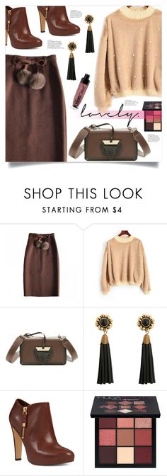"""""""PomPom Skirt"""" by mahafromkailash ❤ liked on Polyvore featuring Nine West, Huda Beauty and Wet n Wild"""