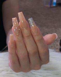 Ballerina Nägel charming acrylic nail designs to copy now 19 ~ thereds.me # acrylic nail design Acrylic Nails Coffin Glitter, Coffin Nails Long, Best Acrylic Nails, Nude Nails With Glitter, Stiletto Nails, Glitter Ombre Nails, Acrylic Nail Designs Glitter, Classy Acrylic Nails, Glitter Nail Polish