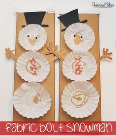DIY Coffee Filter Snowman
