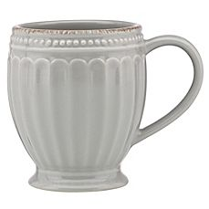 image of Lenox® French Perle™ Groove Mug in Grey