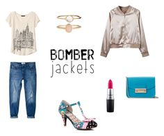 Bomber jacket & denim by netstylistka on Polyvore featuring moda, Banana Republic, MANGO, Furla, Accessorize and MAC Cosmetics