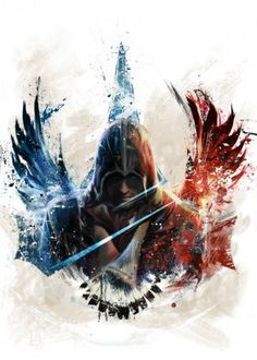 arno assassin cool eagle digital oil painting creed