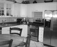 Cornered Kitchen - this is my kitchen now.