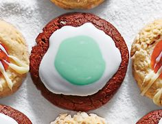 Mint lovers will fall head over heels for these rich, brownie-like cookies filled with chopped mint candies and topped with minty icing.