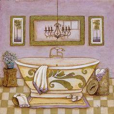 Lavender Bath I  tava studios