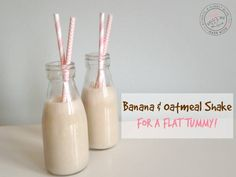 The stomach is the hardest place to lose weight, but with consistent exercise and a healthy diet, it's very possible! This shake is filled with yummy and healthy ingredients like banana, oatm…