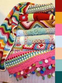 Cherry Heart: Blanket colours