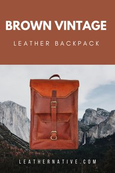 LEATHER BACKPACK BROWN, Leather backpack men, Leather backpack laptop, Leather backpack vintage, Rucksack backpack, Backpack large Vintage Leather Backpack, Leather Backpack For Men, Small Leather Bag, Leather Bags Handmade, Handmade Bags, How To Make Leather, Natural Leather, Brown Leather, Rucksack Backpack