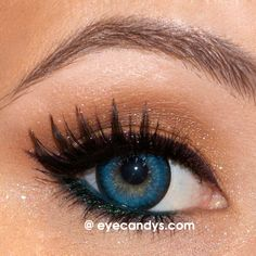Beautiful Sparkling GEO Mari Gold Blue circle contact lenses (cosmetic colored contacts). FREE Shipping at www.eyecandys.com!