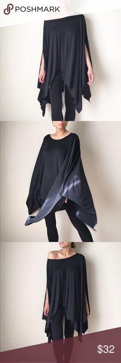 "Fabulous poncho tunic top. Asymmetric hem Fabulous poncho tunic top. Loose fit asymmetrical hem .rayon ,spandex fabric. Size S length :33"" :34"". No trade lovelies CHICBOMB Tops Tunics"