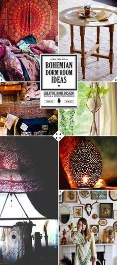 The free spirit: bohemian dorm room ideas dorm color schemes, dorm colors, boho
