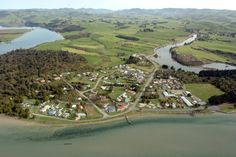 Pounawea from the air