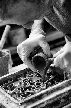 The Ancient Craft of Cement Tiles — Statements in Tile/Lighting/Kitchens/Flooring Cement Art, Concrete Cement, Concrete Crafts, Concrete Projects, Concrete Garden, Concrete Planters, Polished Concrete, Beton Design, Graphisches Design