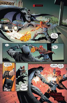 Jason Todd vs Bats in Red hood and the Outlaws Rebirth Catwoman, Batgirl, Tim Drake, Nightwing, Batman Fight, Son Of Batman, Batman Vs, Damian Wayne, Red Hood Jason Todd