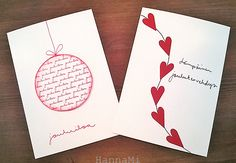 9 More Easy Homemade Christmas Cards with Step by Step Instructions – DIY Fan Cute Christmas Ideas, Handmade Christmas Decorations, Christmas Crafts For Kids, Christmas Diy, Homemade Xmas Gifts, Homemade Christmas Cards, Xmas Cards, Diy Cards, Harry Potter Birthday Cards