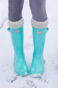 Hunter Rainboots in Tiffany Blue