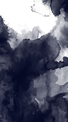 Black and white watercolor abstract art. Tap to see more Watercolor Style iPhone Wallpapers! - @mobile