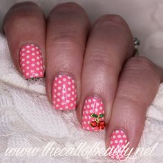 The Call of Beauty: 26 Great Nail Art Ideas: Things That Are Round - Cherry and Dots Manicure