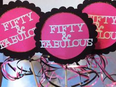 50th Birthday Centerpiece Signs with Personalized by FromBeths, $9.50