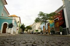 Picture taken in the streets of Sao Filipe in the Fogo island, Cape Verde.