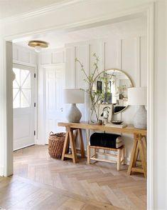 - Anissa Zajac Dyi, Diy Décoration, Home Decor Items, Cheap Home Decor, Herringbone Wood Floor, Herringbone Pattern, Best Decor, Living Spaces, Living Room