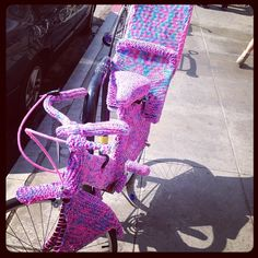 Crocheted Bicycle with Baby Seat