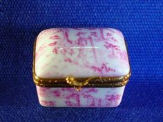 PINK TOILLE BOX - Porcelain Limoges from France - Limoges Factory Co.