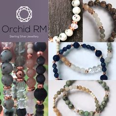 Hand made sterling silver jewellery and semi precious gemstones. Festival Bracelets, Semi Precious Gemstones, Sterling Silver Jewelry, Orchids, Custom Design, Jewelry Watches, Beaded Bracelets, Facebook, Twitter