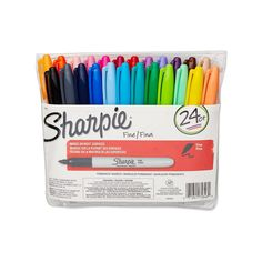24 Sharpie Markers - Fine Point | ColorColored Permanent Markers | Gift For Teacher | Fine Tip Sharpie Colors