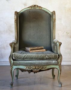 Nice chair. i like the celadon antiqued wood.