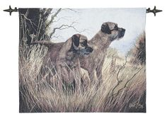 Terriers - Fine Woven Tapestry Wallhanging Fine Woven Tapestry Wallhanging adds a focal centerpiece to any room The Country Collection of Fine Woven