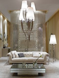 Glam living room via Colette ale Mason