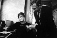 G.B. ENGLAND. 1963. John LENNON with manager Brian EPSTEIN. Contact email: New York : photography@magnumphotos.com Paris : magnum@magnumphotos.fr London : magnum@magnumphotos.co.uk Tokyo : tokyo@magnumphotos.co.jp Contact phones: New York : +1 212 929 6000 Paris: + 33 1 53 42 50 00 London: + 44 20 7490 1771 Tokyo: + 81 3 3219 0771 Image URL: http://www.magnumphotos.com/Archive/C.aspx?VP3=ViewBox_VPage&IID=2K7O3R9WQ6GO&CT=Image&IT=ZoomImage01_VForm