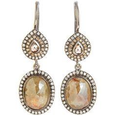 Zoe Diamond Double Drop Earrings